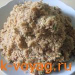 Блюдо в пост, котлеты из сои