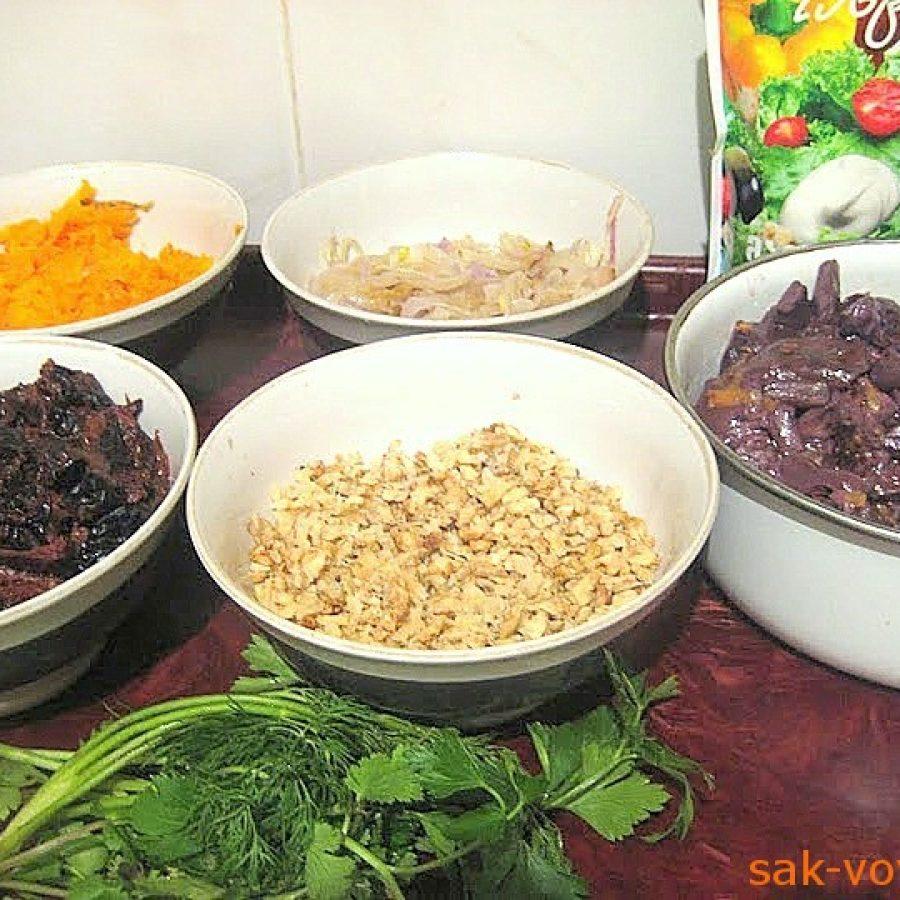 """как приготовить салат """"Сюрприз"""", блюда в пост"""