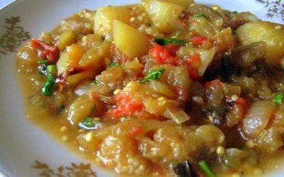 постное блюдо, пошаговый рецепт аджапсандали по-грузински.
