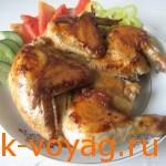 Блюдо грузинской кухни – цыпленок табака
