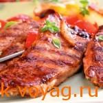 Рецепт с фото для барбекю, свинина с овощами гриль