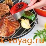 рецепты для барбекю, свинина с овощами гриль