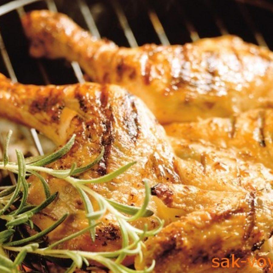 как приготовить курицу на гриле с травами