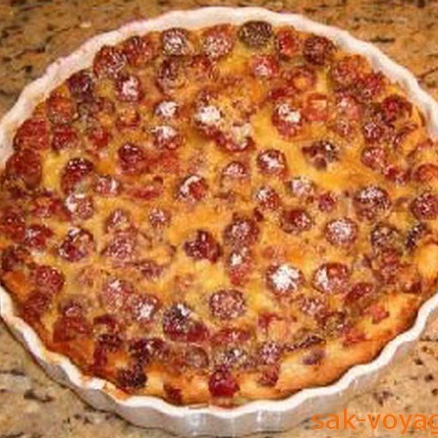 классический пирог с вишней