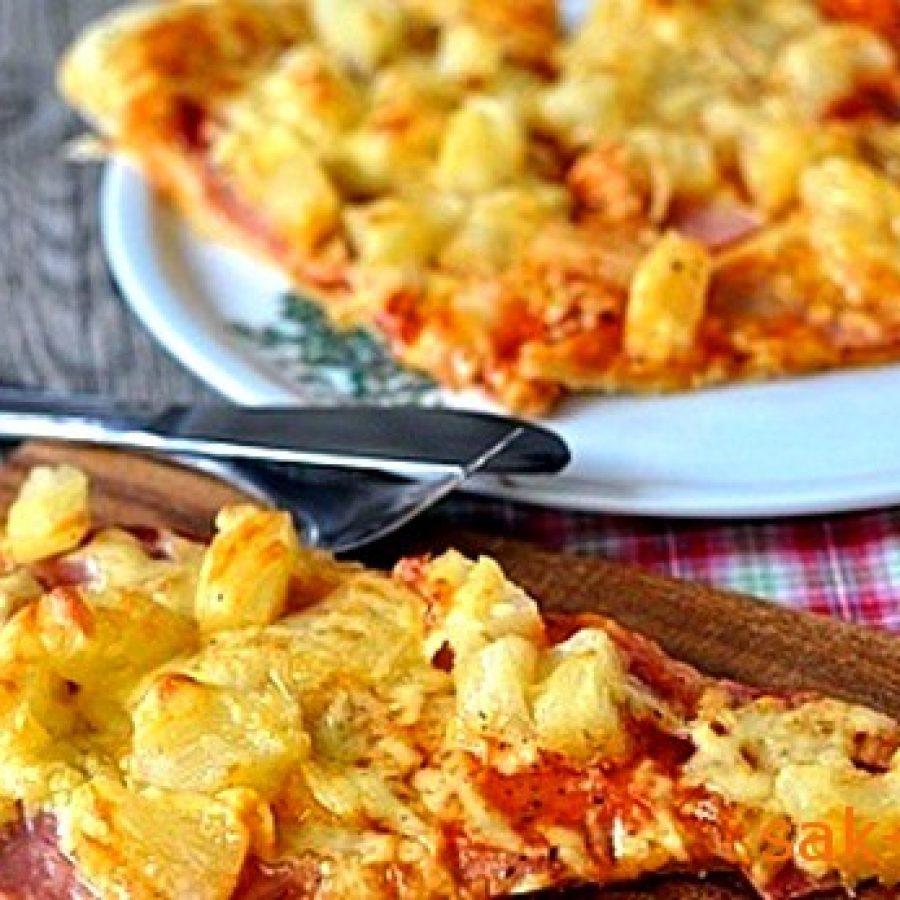 как приготовить гавайскую пиццу с ветчиной и ананасами