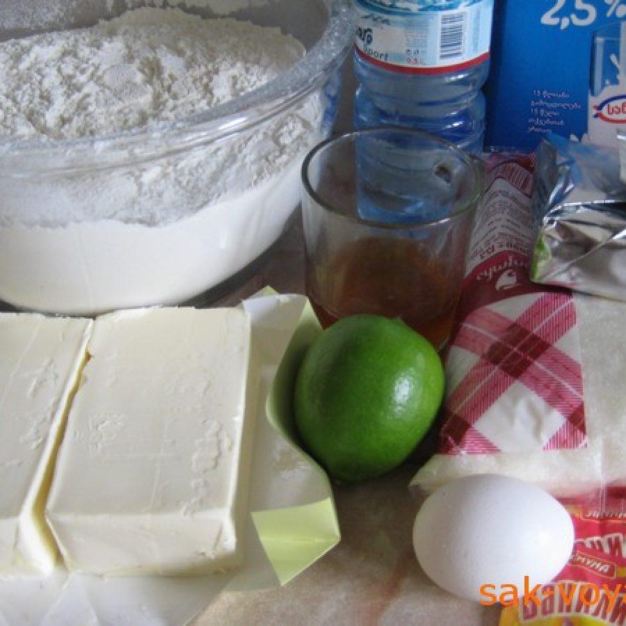 ингредиенты для трубочек с заварным кремом