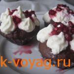 Как приготовить кексы для Хеллоуина «Поцелуй Дракулы» пошаговый рецепт с фото
