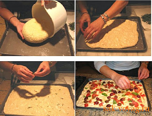 Итальянская кухня: фокачча с помидорами и оливками