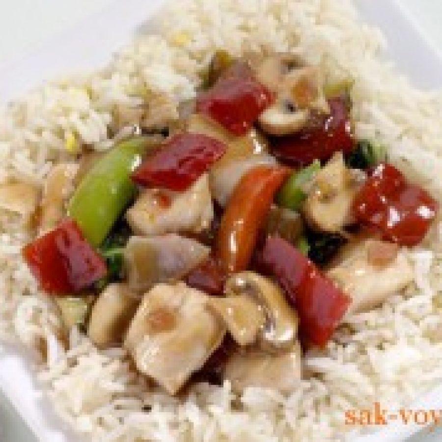 Праздничное блюдо курица с соусом терияки