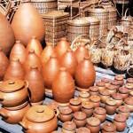глиняные горшки на Рикотском перевале