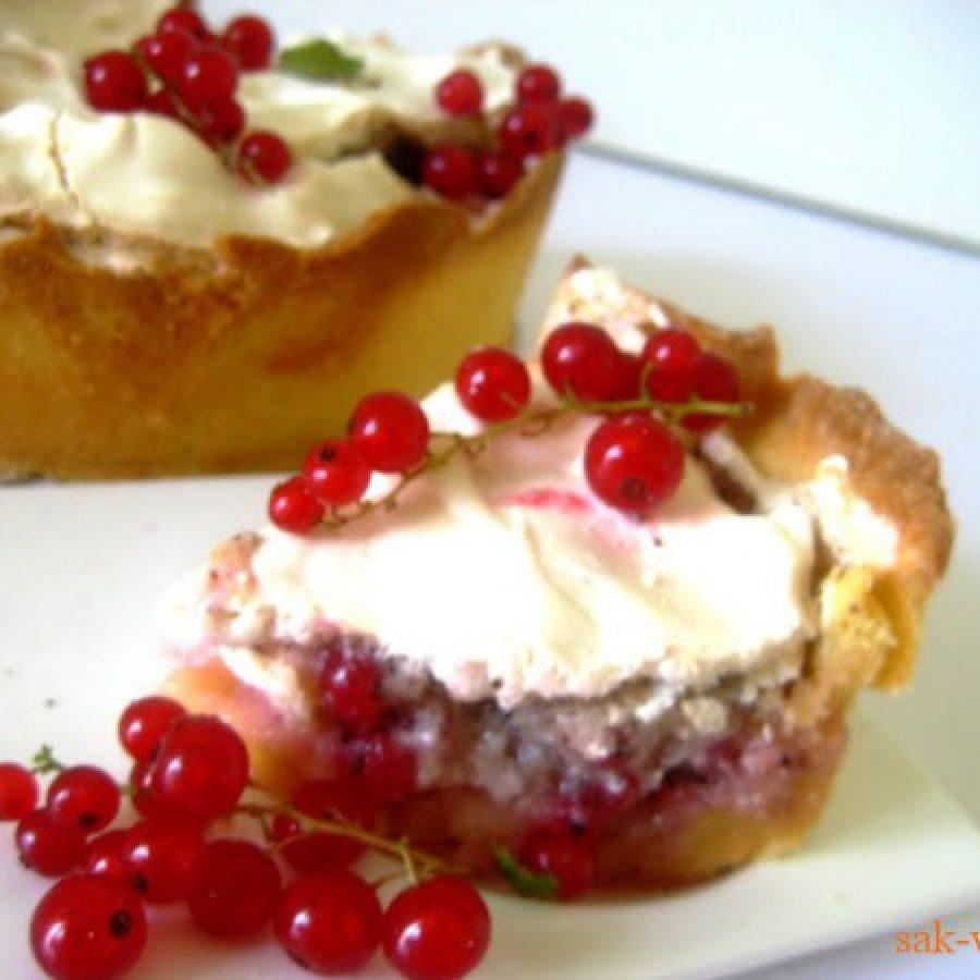 как приготовить воздушный пирог с красной смородиной