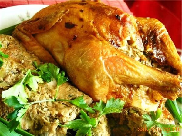 как приготовить курицу в фольге с орехами и творогом