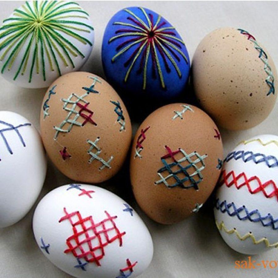 оформление пасхальных яйц