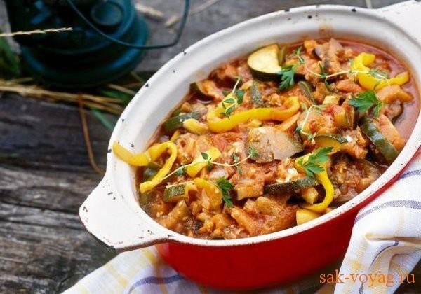 рецепт овощного блюда рататуй