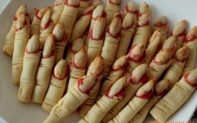 """как приготовить печенье на Хеллоуин """"Пальцы ведьмы"""""""
