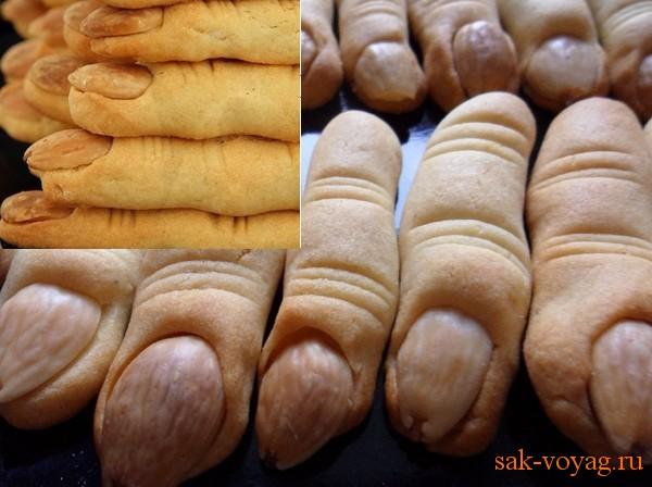 как приготовить для Хеллоуина печенье Ведьмины пальцы