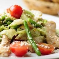 рецепт салат из цыпленка с зеленой фасолью