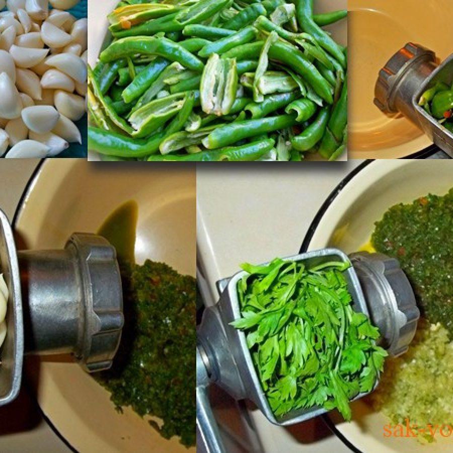 грузинская кухня пошаговый рецепт Как приготовить острую зеленую аджику