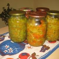 заготовки на зиму, как приготовить салат Дунайский