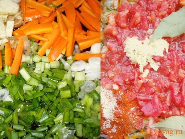 рецепт салата с баклажанами с перцем