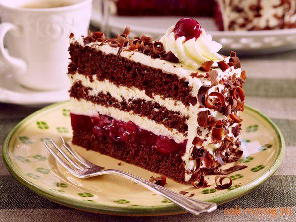 Торт черный лес рецепт пошаговый рецепт с фото