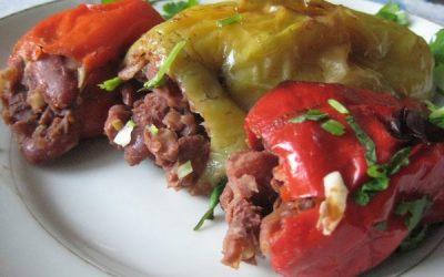 пошаговый рецепт с фото болгарский перец фаршированный фасолью