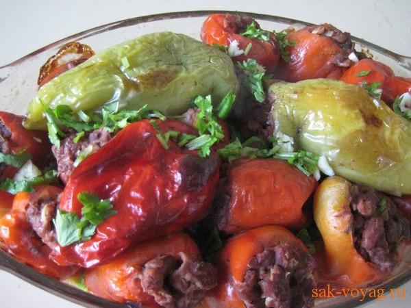 Как приготовить болгарский перец фаршированный фасолью постные блюда