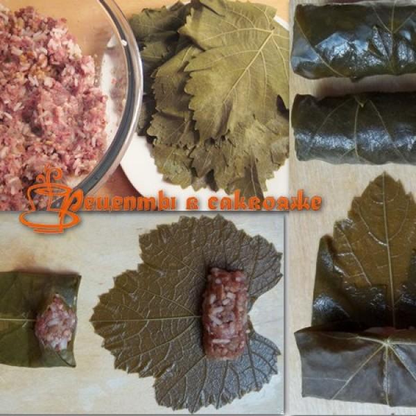 Рецепт настоящей долмы с виноградными листьями