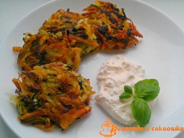 как приготовить решти - оладьи из кабачков и картофеля