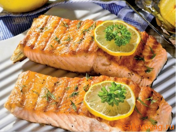 Стейк из лосося на гриле рецепт с фото пошагово