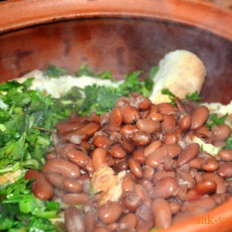 грузинская кухня, фасоль в горшочке