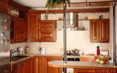 маленькая барная стойка в интерьере кухни
