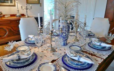 праздничный декор новогоднего стола